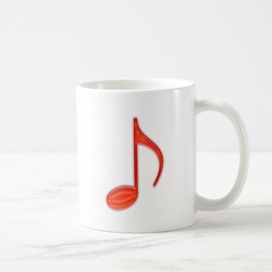 8th Note Large Red Plastic 2010 Coffee Mug