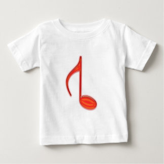 8th Note Reversed Plastic Red Large Baby T-Shirt