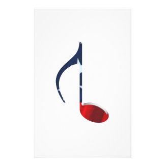 8th Note Reversed U S Flag Customized Stationery