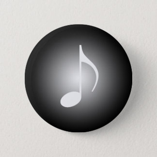 8th Note Spot Light Music Tools 6 Cm Round Badge