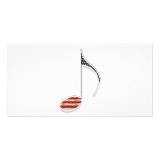 8th Note US Flag Photo Card