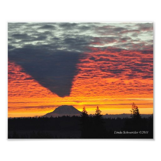 8X10 #7 Mount Rainier and its Shadow Art Photo