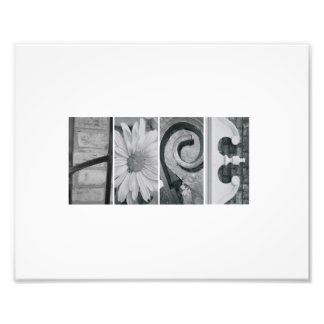 8x10 Alphabet Letter Photography Hope Print