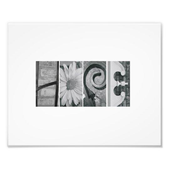8x10 Alphabet Letter Photography Hope Print Photo Art