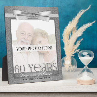 8x10 Diamond 60th Wedding Anniversary Photo Frame Plaque
