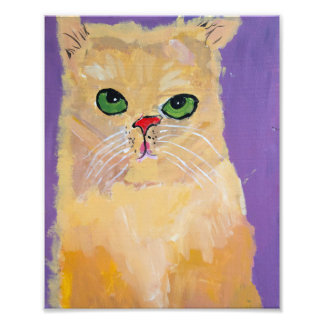 8x10 Ginger Cat Print Photo Art