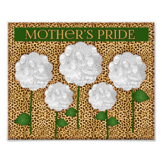 8x10 Mother's Pride Cheetah Print Photo Collage