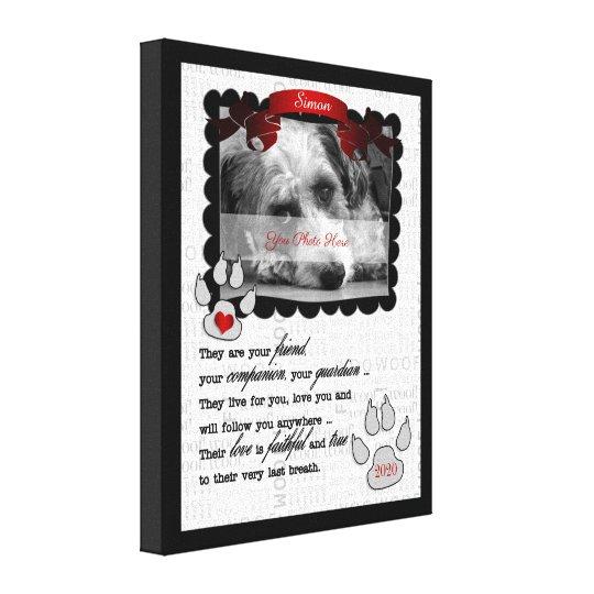 8x10 Pet Memorial Poem Dog Photo Canvas Print
