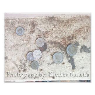 8x10 print- Old Coins Photo Art