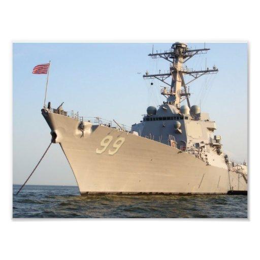 8x10 USS FARRAGUT (DDG 99) Navy Destroyer Art Photo