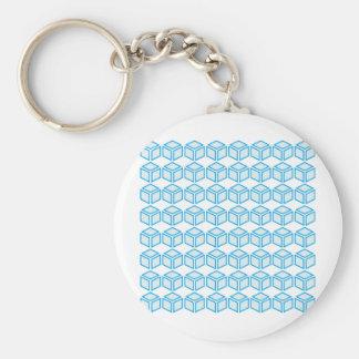 8x8 cube basic round button key ring