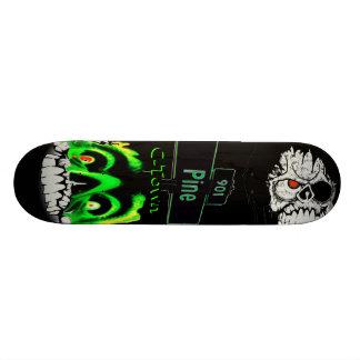 901 Pine C-Town Double Skull Design Skate Board Deck