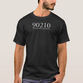 90210 Beverly Hills Yacht Club front only - black T-Shirt