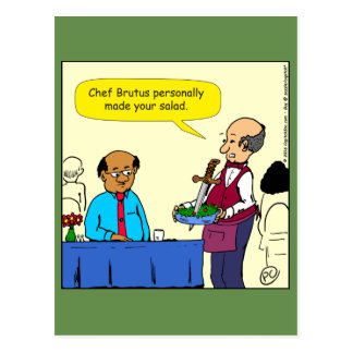 904 Chef Brutus made the salad cartoon Postcard