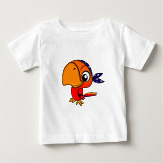 906 CUTE CHEEKY PIRATE PARROT CARTOON BABY T-Shirt