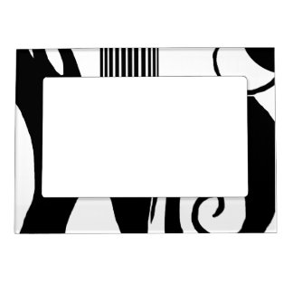 90 Abstract Black & White Magnetic Frame