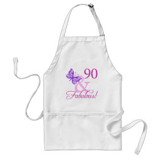 90 And Fabulous Birthday Gifts (Plum) Standard Apron
