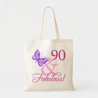 90 And Fabulous Birthday Gifts (Plum) Tote Bag