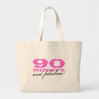 90 and fabulous tote bag | gift for 90th Birthday
