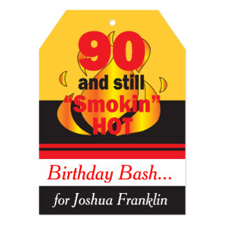 90 and Still Smokin Hot | 90th Birthday 13 Cm X 18 Cm Invitation Card