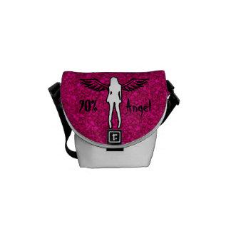 """""""90% Angel"""" Glittered Mini Messenger Bag"""