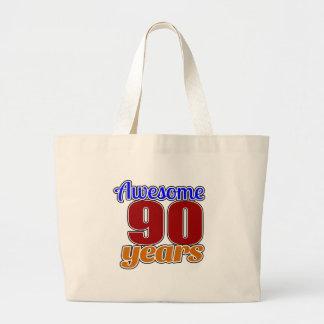 90 Awesome Birthday Jumbo Tote Bag
