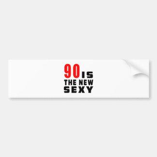 90 birthday designs bumper stickers
