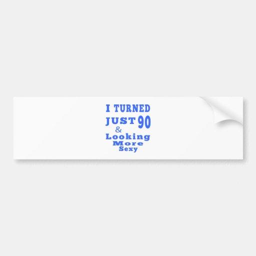 90 birthday designs bumper sticker