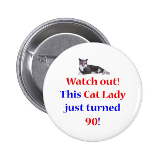 90 Cat Lady Buttons