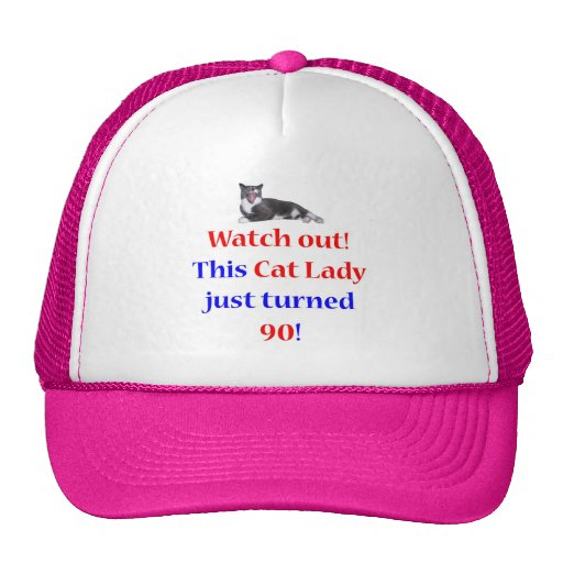 90 Cat Lady Mesh Hats