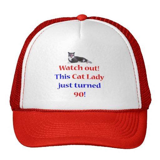 90 Cat Lady Trucker Hat