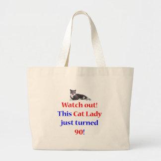 90 Cat Lady Jumbo Tote Bag