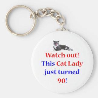 90 Cat Lady Keychain