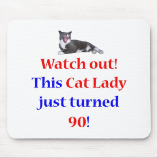 90 Cat Lady Mouse Pad