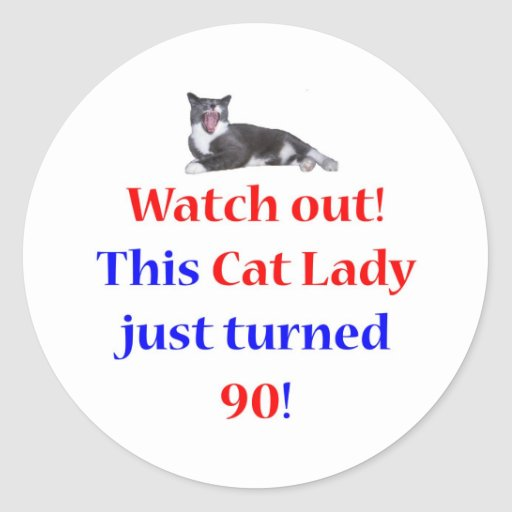 90 Cat Lady Sticker