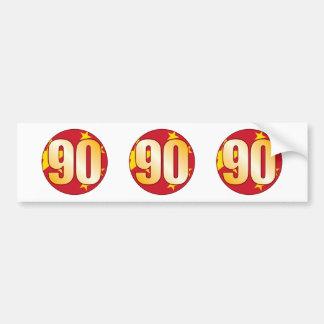 90 CHINA Gold Bumper Sticker