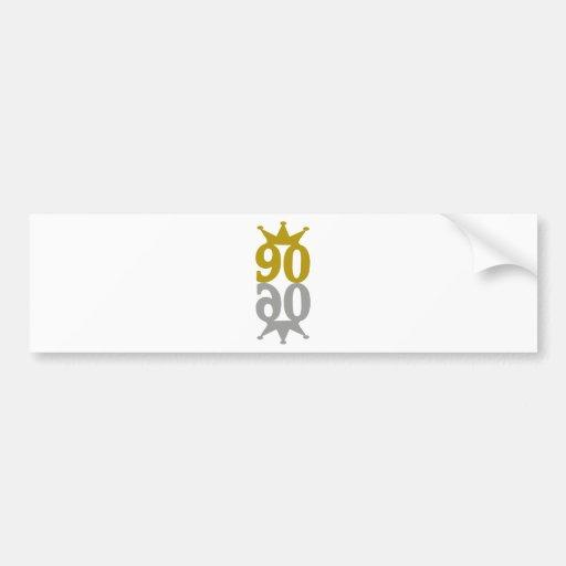 90-Crown-Reflection Bumper Sticker