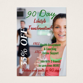 90 Day Lifestyle Transformation 2 Business Card