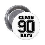 90 days  clean black button