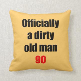 90 Dirty Old Man Throw Pillows