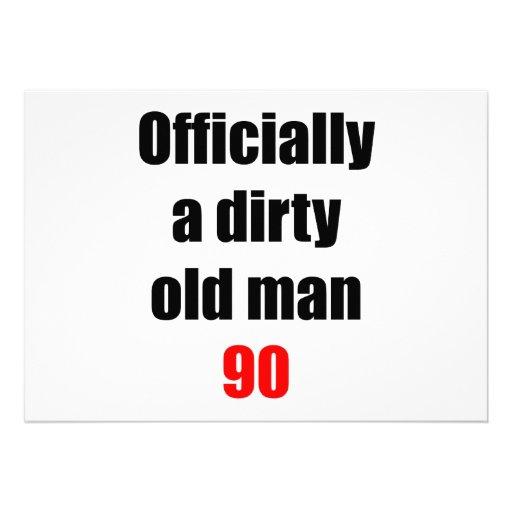 90 Dirty Old Man Invitation