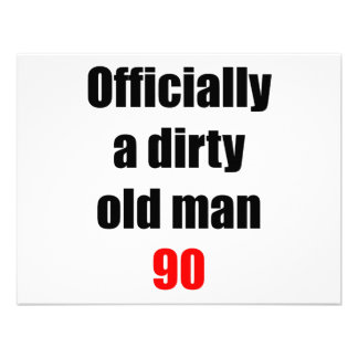 90 Dirty Old Man Personalized Invites