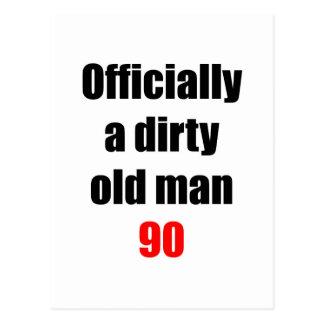 90  Dirty Old Man Postcard