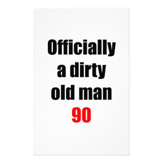 90  Dirty Old Man Stationery