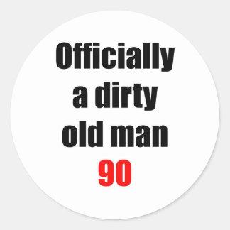 90  Dirty Old Man Classic Round Sticker