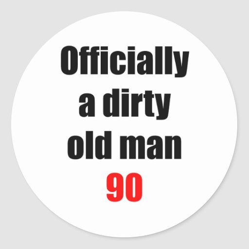 90  Dirty Old Man Stickers