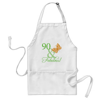 90 & Fabulous Birthday Gifts Standard Apron