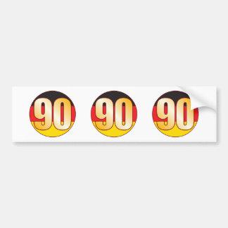 90 GERMANY Gold Bumper Sticker