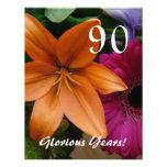 90 Glorious Years!-Birthday Party/Orange Lily