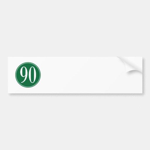 #90 Green Circle Bumper Sticker